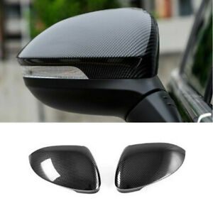 Carbon Fiber 2x Side Door Rearview Mirror Cover Trim For Vw Golf 8 Mk8 2020 2021