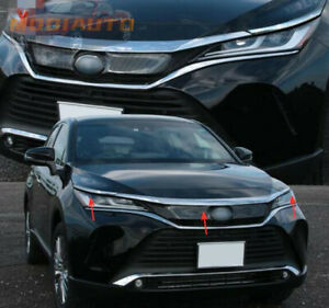 For Toyota Venza Harrier 2021 Abs Front Hood Grill Cover Bonnet Molding Trim