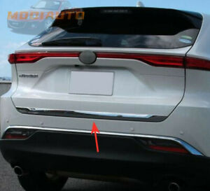For Toyota Venza Harrier 2021 Chrome Rear Trunk Tailgate Door Lid Cover Trim
