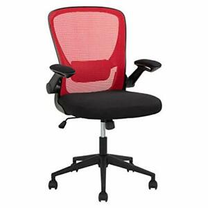 Home Office Chair Ergonomic Desk Chair Mesh Computer Chair With Lumbar Red