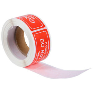 150pcs roll Adhesive Clear Handle With Care Sticker Fragile Warning Sticker