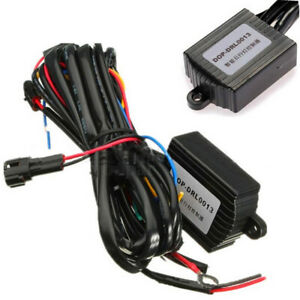 1x Drl Daytime Running Light Controller Switch Harness Auto Dimmer Dimming Relay