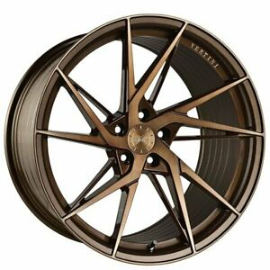 20 Staggered Vertini Wheels Rfs1 9 Brushed Dual Bronze Flow Formed Rims