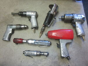 Snap On Bp Ir Matco Pneumatic Air Impact Wrench Ratchet Hammer Cutoff Tool Set