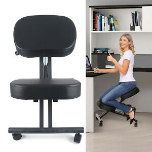 Ergonomic Kneeling Chair Adjustable Stool For Home Office With Thick Cushions