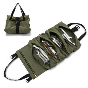Roll Tool Roll Multi Purpose Tool Roll Up Bag Wrench Roll Pouch Hanging Bag
