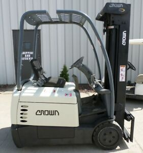 Crown Sc4020 30 2003 3000 Lbs Capacity Great 3 Wheel Electric Forklift