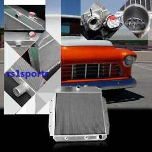 3 Row Performance All Aluminum Radiator Fit 1955 56 57 58 59 Chevy Truck Pickup