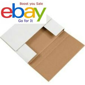50 Book Easy Folds Corrugated Pre scored Mailers Multi Depth 9 5 8x6 5 8x2 5