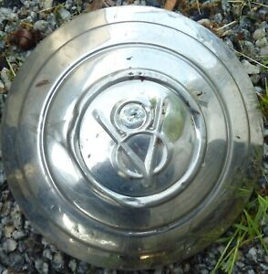 1932 32 1933 33 Ford V8 Stainless Wire Wheel Hubcap Dog Dish Oem