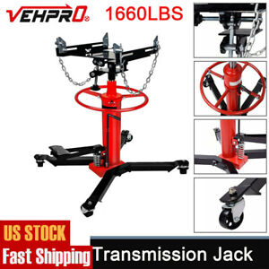 1660 Lbs Transmission Jack 2 Stage Hydraulic W 360 For Car Lift 0 75 Ton Us