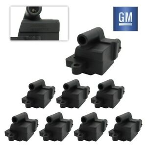 Set Of 8 Gm 12558693 Ignition Coils For Ls2 Ls4 Ls7 Engines 12556893 D581