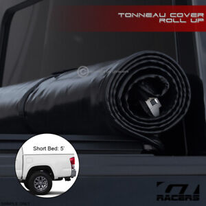 For 2016 2021 Toyota Tacoma 5 Ft 60 Bed Lock Roll Up Soft Vinyl Tonneau Cover