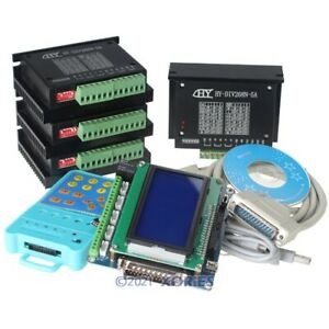 4 Axis Cnc Kit Router Diy5 Axis Breakout Board 4 tb6600hg Stepper Motor Driver