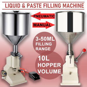 A03 5 50ml Liquid Paste Manual Filling Machine Low dose Lotion Oil Filler A02