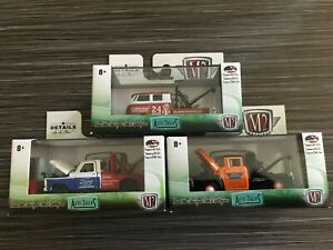 M2 Machines auto Trucks Tow Vehicles 1956 67 Ford F 100 60 Vw Double Cab