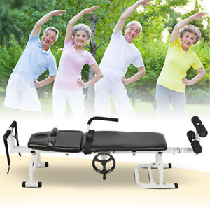 Body Stretching Table Spine Lumbar Traction Orthotics Massage Therapy Bed Device