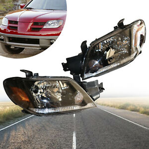 For 2003 2005 Mitsubishi Outlander Front Halogen Head Lamp Headlights Assembly
