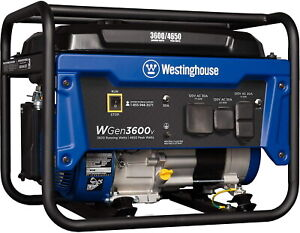 Westinghouse 4 650 w Quiet Portable Rv Ready Gas Powered Generator Home Backup
