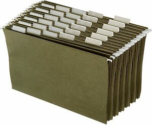 Hanging Office Cabinet File Folders Legal Size Green Pack Of 25