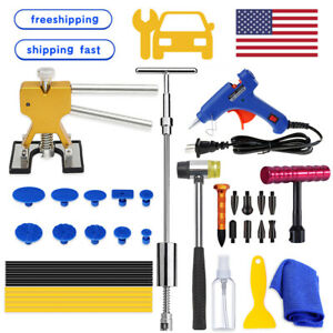 Dent Repair Puller Kits Car Body Paintless Dent Removal Hammer Hail Damage Tools