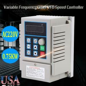 1hp Variable Frequency Drive Vfd Single To 3phase Speed Controller Inverter Unit