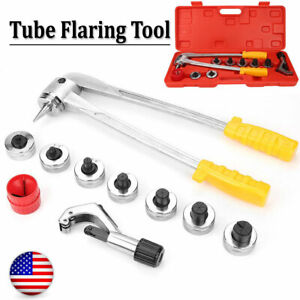Manual Pipe Flaring Expander Tool 7 lever Hvac Hydraulic Copper Tube Swaging Kit