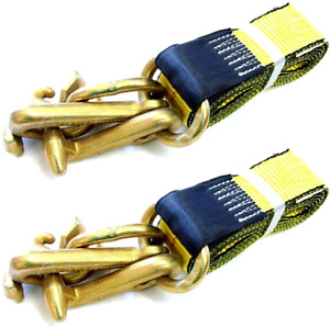 Gripon pack Of 2 2 Inch Auto Tie Down Strap With G70 Rtj Cluster Hooks 8 Ft