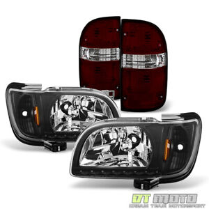 For 2001 2004 Toyota Tacoma Led 1pc Headlights W Corner Blk Tinted Tail Lamps