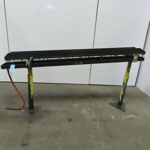 Small Parts Gravity Roller Conveyor 5 Wide X 82 Long Incline W drip Pan