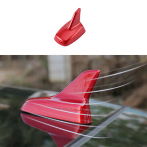 Red Car Roof Shark Fin Antenna Aerial Trim 1pcs Fit For Mazda 3 Axela 2020 2021