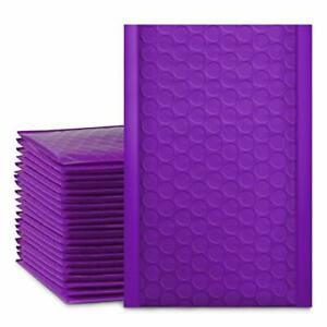 50 Pcs 4x8 Purple Bubble Wrap Mailers Padded Mailing Envelope Bags Lightweight