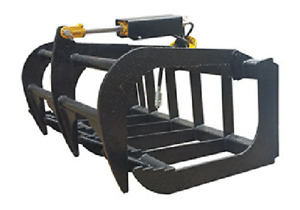 New Usa 48 4 Skid Steer Loader compact Tractor Light Weight Grapple Root Rake