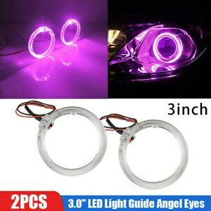 9 36v Dc Purple Led Lights Guide Angel Eyes Halo Ring For Car Headlight Retrofit