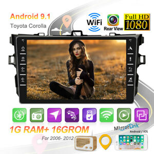 8 Android 9 1 Car Stereo Radio Gps Bt Wifi 1 16g For Toyota Corolla 2006 2012