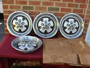 1971 71 Ford Mustang Boss 351 Nos 15 Simulated Mag Hubcaps D1za 1130 eb