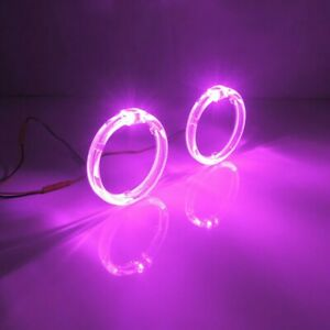 2 5inch Purple Led Lights Guide Angel Eyes Halo Rings For Car Headlight Retrofit