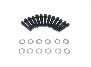 Small Block Ford Sbf 12pt Black Oxide Grade 8 Bolts For Steel Valve Covers New