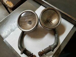 Pair Vintage 1930s 1920 s Car Cowl Lights Cadillac Oldsmobile Very Nice 4