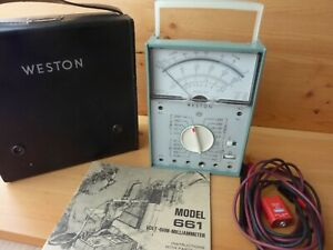 Weston 661 Vom With Case Analog Meter Made In Usa 1976 Very Good Condition