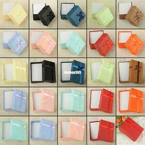 Square Carton Gift Box Present Case For Ring Bangle Jewelry Bracelet Necklace F
