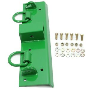 For John Deere Compact Tractor Bolt On Grab Hooks D Rings 2 Receiver