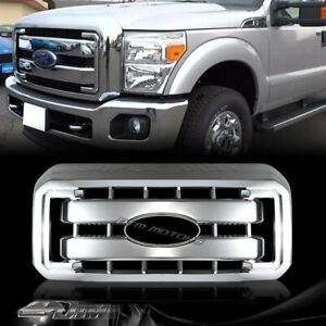 For 11 16 F250 F350 F450 F550 Super Duty 1 piece Chrome Grill Full Overlay Cover