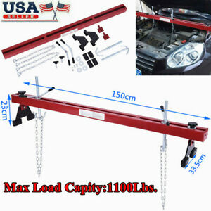Engine Load Leveler 1100lbs 500kg Capacity Support Bar W Dual Hook Support Usa