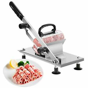 Manual Frozen Meat Slicer Stainless Steel Cutter Machine For Home Kitchen Use