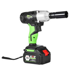 1 2 In Cordless Electric Impact Wrench Power Tool Set With Charger 2 Battery