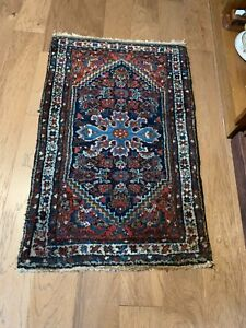 Antique Beautiful 47x29 Wool Oriental Turkish Style Rug With Free Shipping