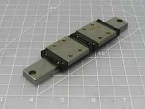 Lot Of 2 Thk Srs9wm Linear Bearing Blocks In A 6 In Linear Slide Rail T172740