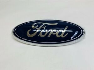 New Ford Emblem 9 Inch Oval Blue And Chrome For Front Grille Rear Tailgate Logo