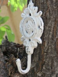 Antiques Shabby Chic Cast Iron Wall Hook Antique White Or Pick Color